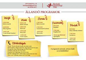 állandó programok 2017 ben