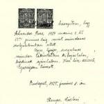bizonyítvány 1925-ből
