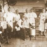 Weber család húsüzeme a Fő utcán