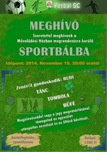 Sport bál 2014