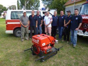 A burgwaldiak ajándéka a perbáli önkéntes tűzoltók számára